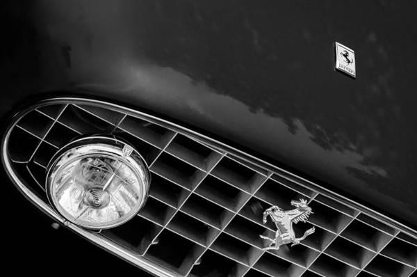 Photograph - 1957 Ferrari 410 Superamerica Series II Grille Emblem by Jill Reger