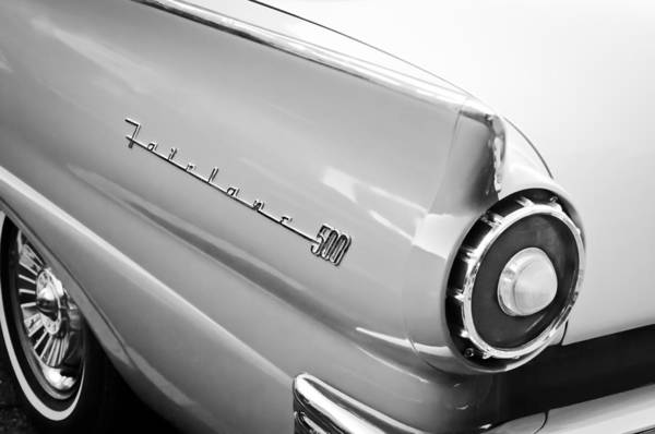 Ford Fairlane Photograph - 1957 Ford Fairlane 500 Taillight Emblem by Jill Reger