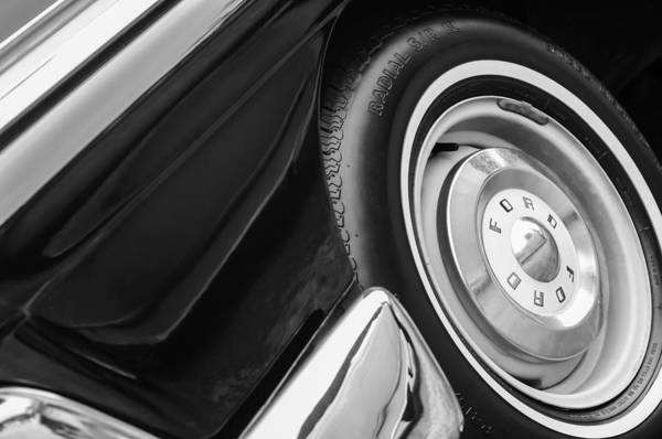 Ford Fairlane Photograph - 1957 Ford Fairlane Convertible Wheel Emblem by Jill Reger