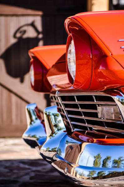 Photograph - 1957 Ford Fairlane Grille -205c by Jill Reger