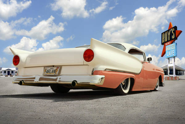 Ford Fairlane Photograph - 1957 Ford Fairlane Lowrider 2 by Mike McGlothlen