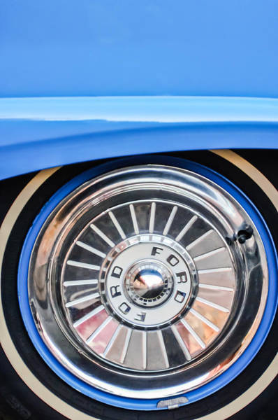 Ford Fairlane Photograph - 1957 Ford Fairlane Wheel by Jill Reger