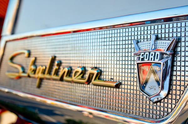 Photograph - 1957 Ford Skyliner Retractable Hardtop Emblem by Jill Reger