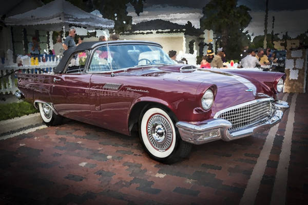 V8 Engine Photograph - 1957 Ford Thunderbird Convertible  by Rich Franco