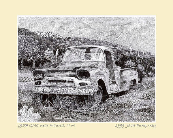 Deposit Drawing - 57 Jimmy Ran When Parked  by Jack Pumphrey