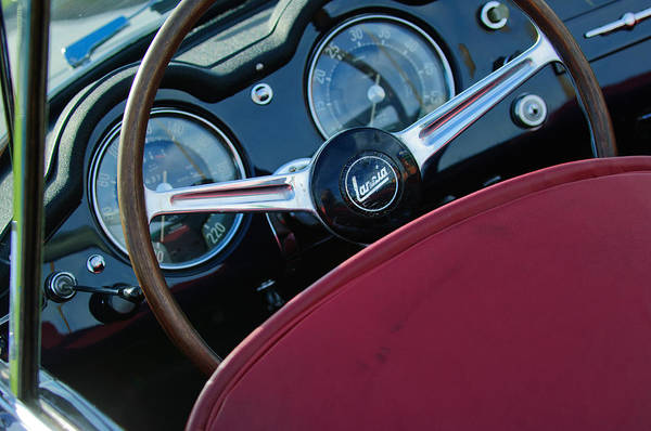 Photograph - 1957 Lancia Aurelia B24s Convertible Steering Wheel by Jill Reger