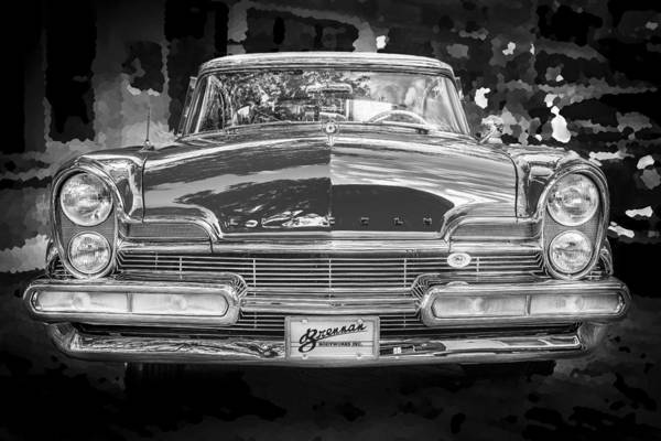 Photograph - 1957 Lincoln Premiere Coupe Bw by Rich Franco