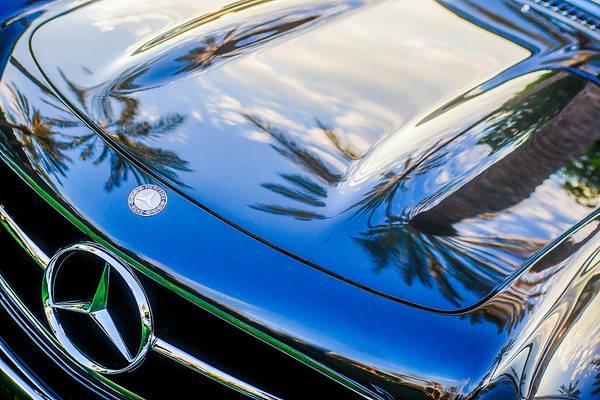 Wall Art - Photograph - 1957 Mercedes-benz 300sl Grille Emblem -0167c by Jill Reger