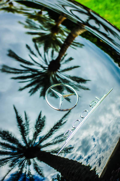 Wall Art - Photograph - 1957 Mercedes-benz 300sl Rear Emblem -0860c by Jill Reger