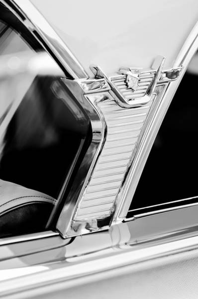 Photograph - 1957 Mercury Monterey Sedan -1030bw by Jill Reger