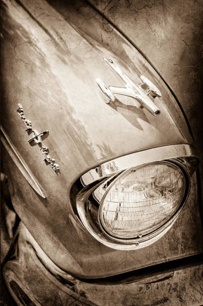 Photograph - 1957 Oldsmobile 98 Starfire Convertible Hood Ornament - Emblem by Jill Reger