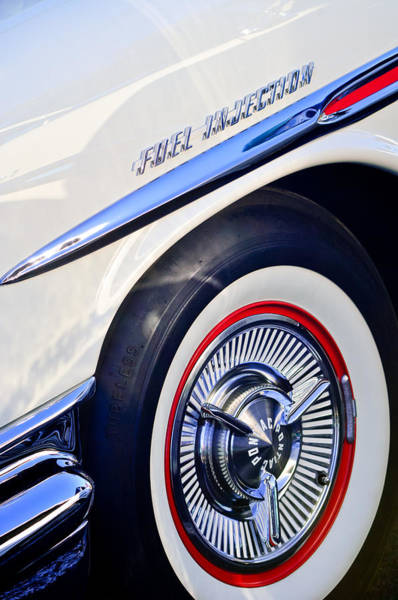 Wall Art - Photograph - 1957 Pontiac Bonneville Wheel by Jill Reger