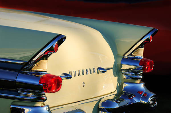 Photograph - 1957 Pontiac Star Chief Hardtop Taillight -1075c by Jill Reger