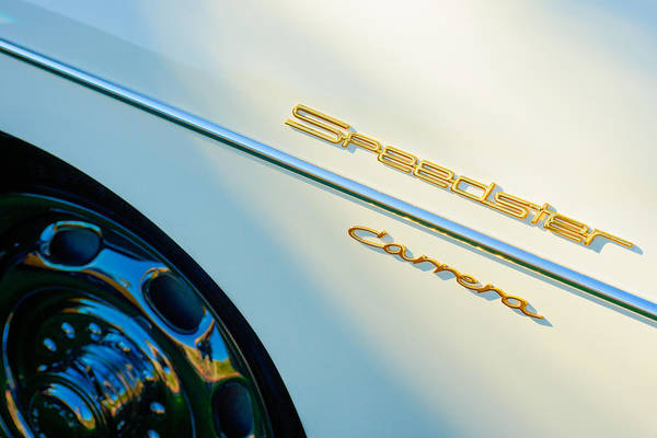 1957 Wall Art - Photograph - 1957 Porsche 356 A Carrera 1500 Gs Speedster Emblem by Jill Reger