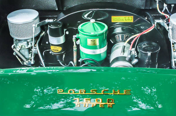 Photograph - 1957 Porsche 356 A Speedster Engine Emblem by Jill Reger