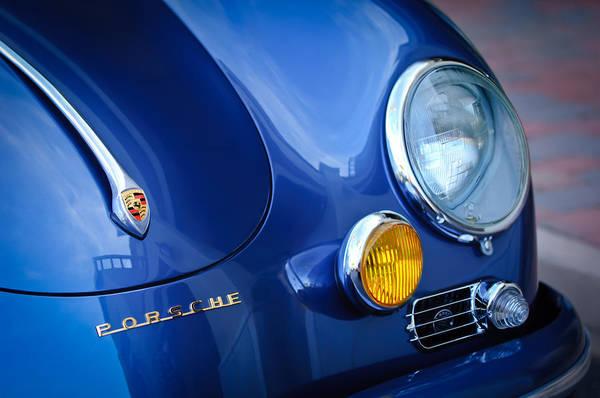 Photograph - 1957 Porsche Hood Emblem -0621c by Jill Reger