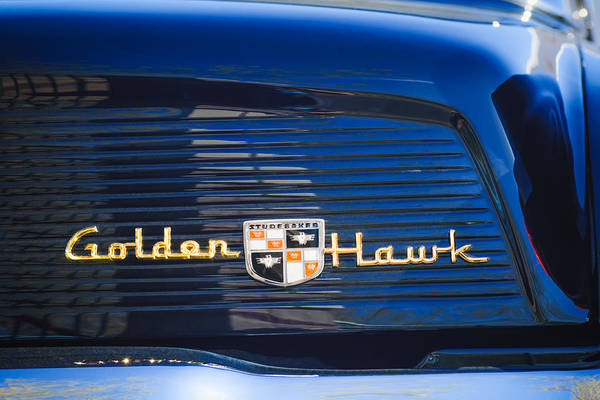 Photograph - 1957 Studebaker Golden Hawk Supercharged Sports Coupe Emblem by Jill Reger