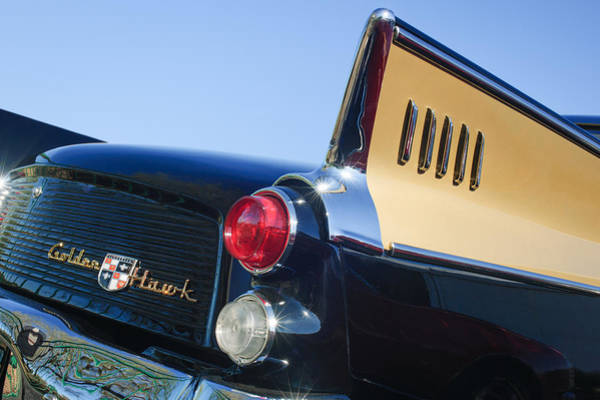 Photograph - 1957 Studebaker Golden Hawk Supercharged Sports Coupe Taillight Emblem by Jill Reger