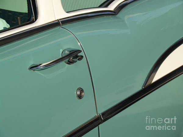 Wall Art - Photograph - 1957 Surf Green Chevy Sedan Detail by Anna Lisa Yoder