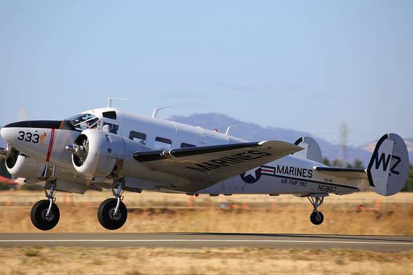 Photograph - 1957 Twin Beech E185 Take Off N5867 by John King
