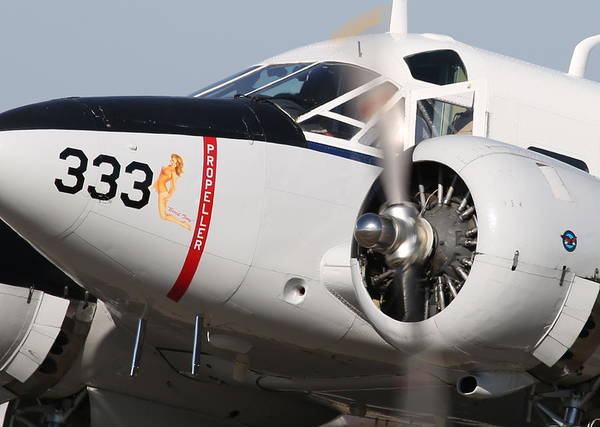 1957 Twin Beech E185 Taxis From The Ramp N5867 Art Print by John King