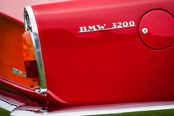 Photograph - 1958 Bmw 3200 Michelotti Vignale Roadster Grille Emblem -2467c by Jill Reger