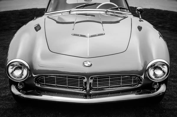 Photograph - 1958 Bmw 507 Series II Roadster -1042bw by Jill Reger