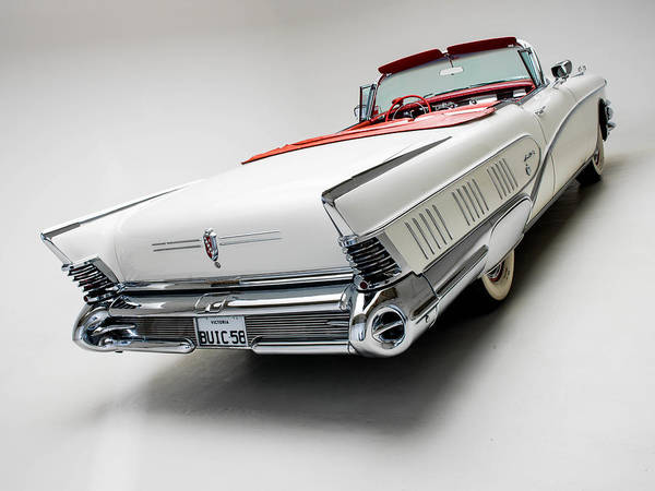 American Car Photograph - 1958 Buick Limited Convertible by Gianfranco Weiss