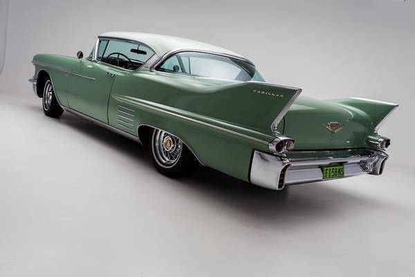 Green Car Photograph - 1958 Cadillac Deville by Gianfranco Weiss