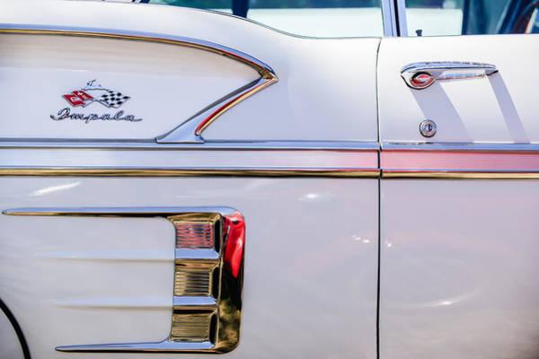 Photograph - 1958 Chevrolet Belair Impala Convertible Side Emblem -0615c by Jill Reger