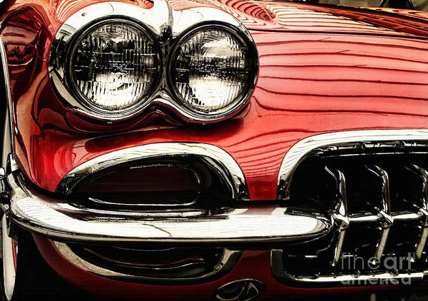Photograph - 1958 Chevrolet Corvette Detail by Daliana Pacuraru
