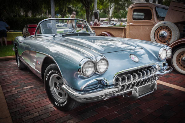 One Of A Kind Photograph - 1958 Chevy Corvette Painted by Rich Franco