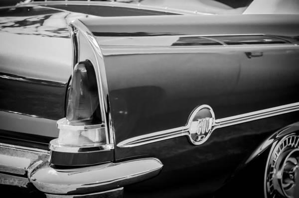 Photograph - 1958 Chrysler 300d Convertible Taillight Emblem -2972bw by Jill Reger