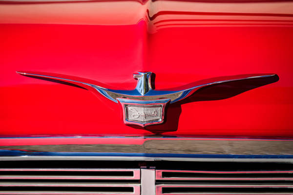 Photograph - 1958 Chrysler Imperial Crown Convertible Emblem by Jill Reger