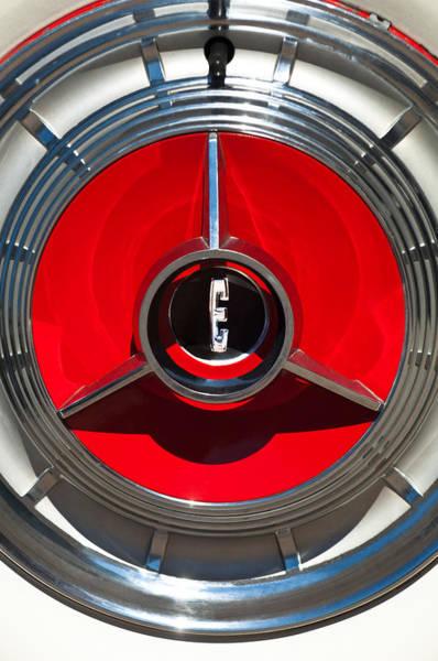 Photograph - 1958 Edsel Pacer Convertible Wheel Emblem by Jill Reger