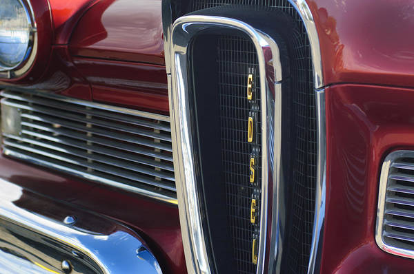 Photograph - 1958 Edsel Pacer Grille 2 by Jill Reger