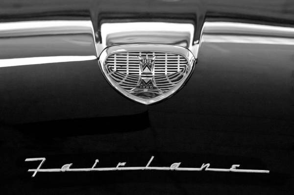 Ford Fairlane Photograph - 1958 Ford Fairlane 500 Victoria Hood Emblem by Jill Reger