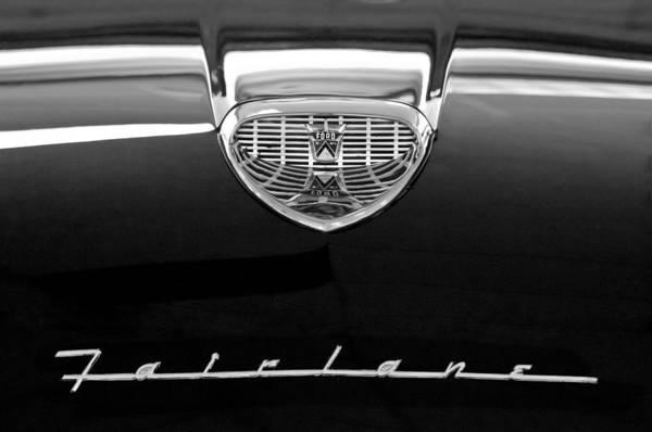 1958 Photograph - 1958 Ford Fairlane 500 Victoria Hood Emblem by Jill Reger
