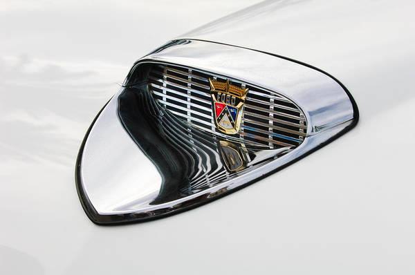 1958 Photograph - 1958 Ford Hood Emblem by Jill Reger