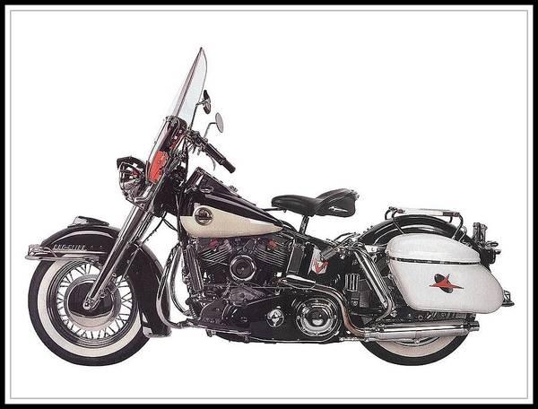 Wall Art - Drawing - 1958 Harley-davidson Flh Duo-glide by Maciek Froncisz