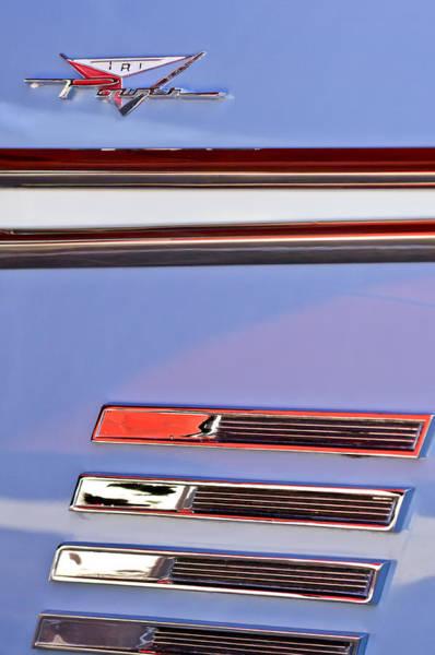 Photograph - 1958 Pontiac Bonneville Emblem by Jill Reger