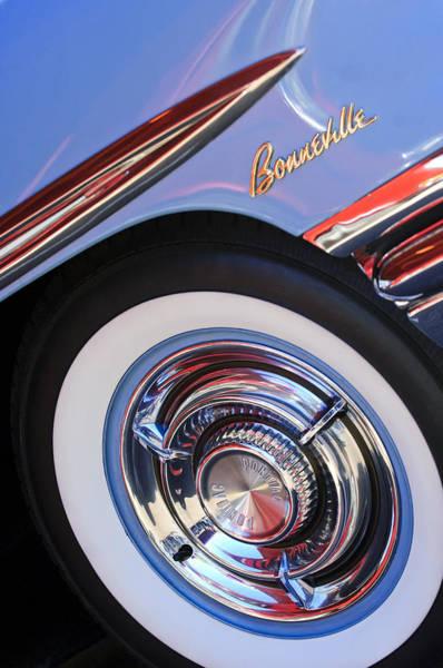 Photograph - 1958 Pontiac Bonneville Wheel Emblem by Jill Reger
