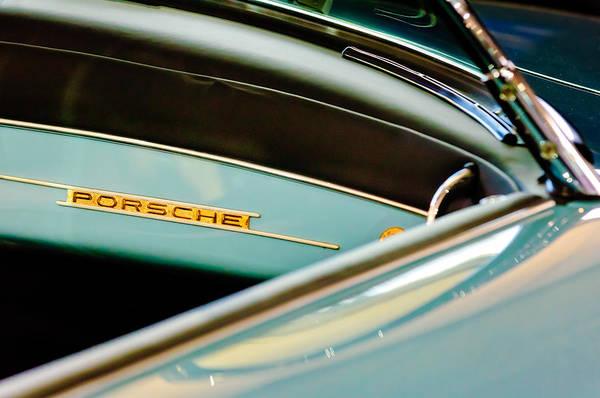 1958 Photograph - 1958 Porsche 356 A Speedster Dash Emblem by Jill Reger