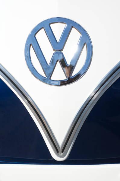 1958 Photograph - 1958 Volkswagen Vw Bus Emblem by Jill Reger