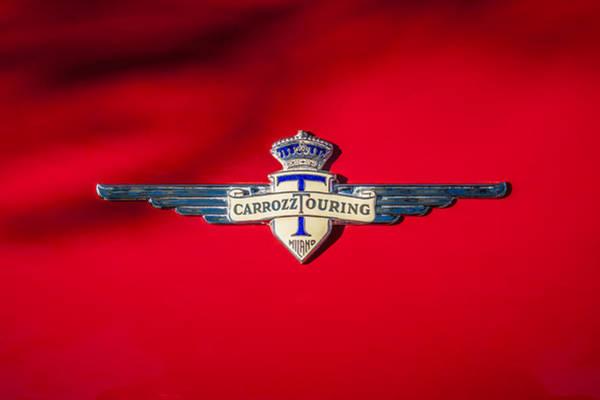 Photograph - 1959 Alfa Romeo 2000 Spider Emblem by Jill Reger