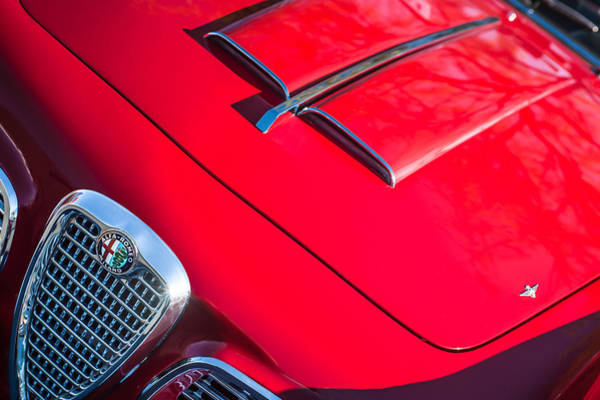 Photograph - 1959 Alfa Romeo 2000 Spider Grille Emblem by Jill Reger