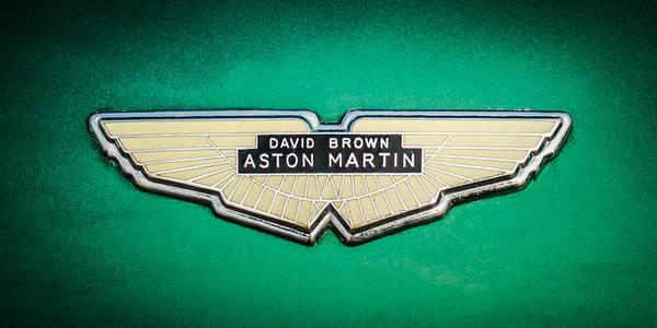 Photograph - 1959 Aston Martin Db4 Gt Hood Emblem -0127c by Jill Reger