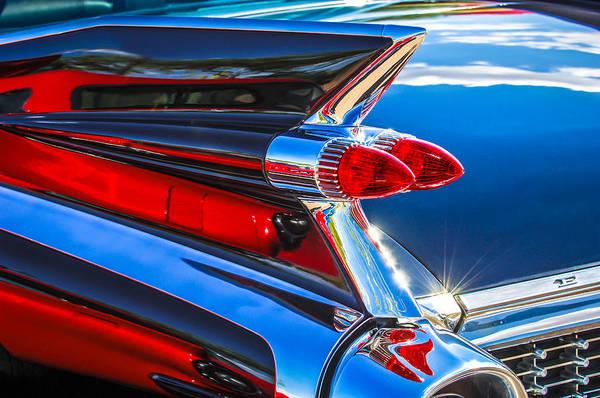 Eldorado Photograph - 1959 Cadillac Eldorado Taillight -097c by Jill Reger