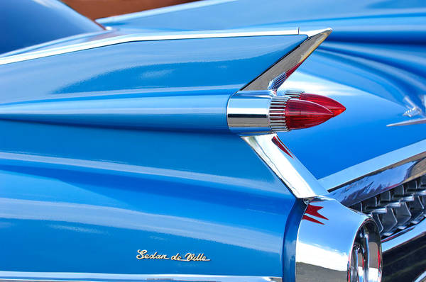 Photograph - 1959 Cadillac Sedan De Ville Taillight by Jill Reger