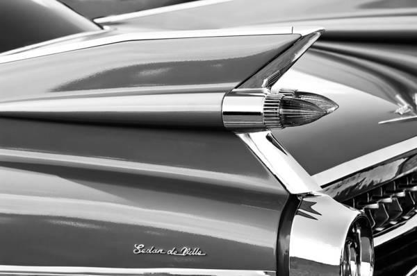 Photograph - 1959 Cadillac Sedan Deville Taillight Emblem by Jill Reger